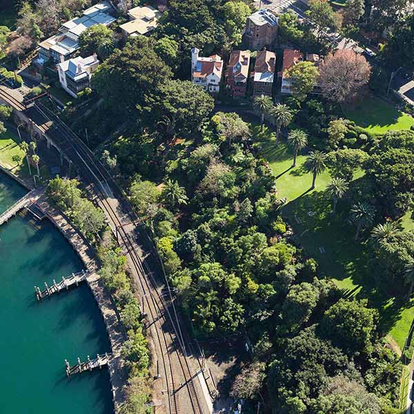 Wendy's Secret Garden Aerial Above Rail
