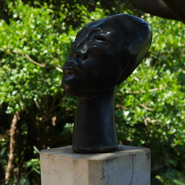 Wendy's Garden 'Head' Bronze by Joel Elenberg