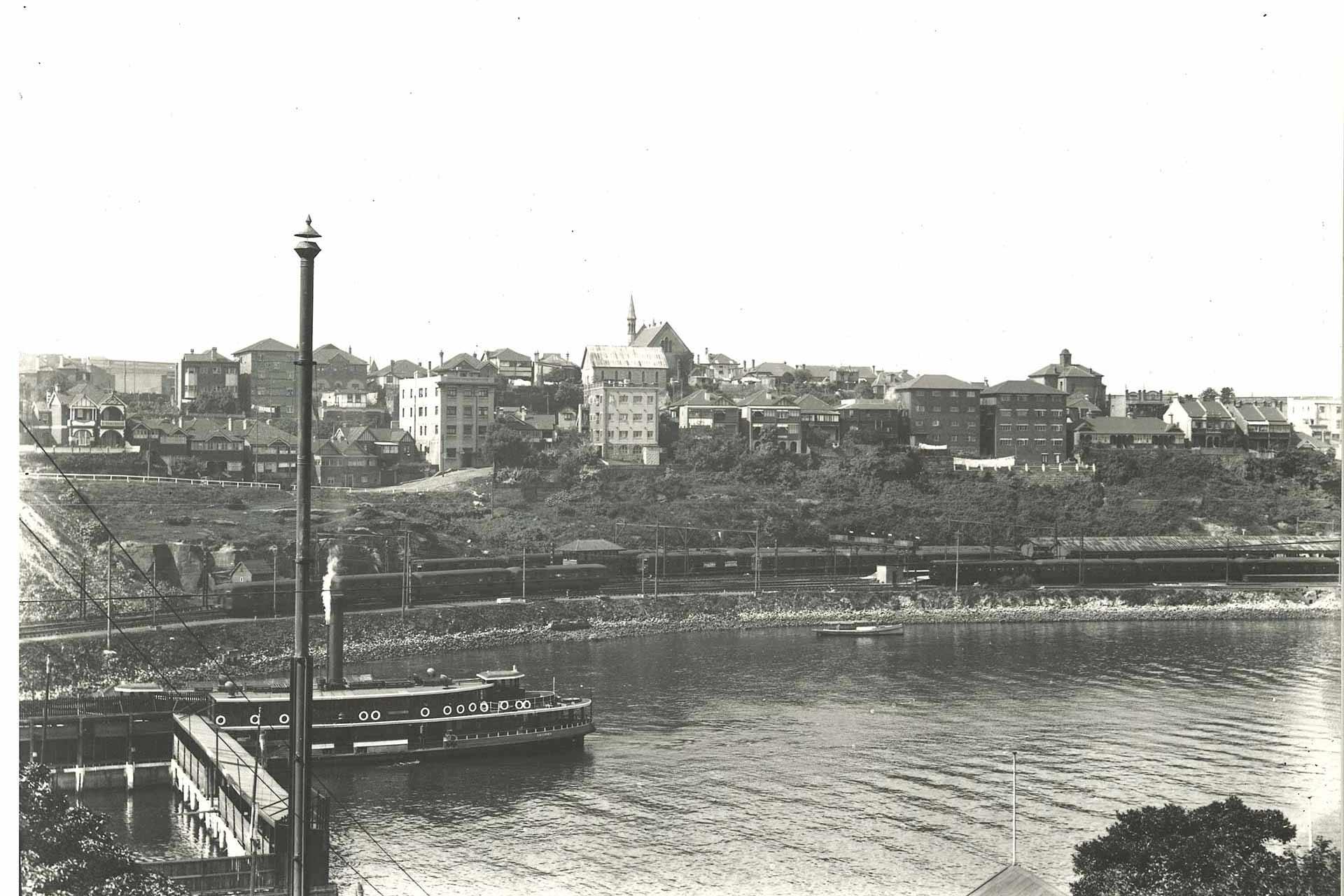 Lavender Bay Rail Ferry 1932