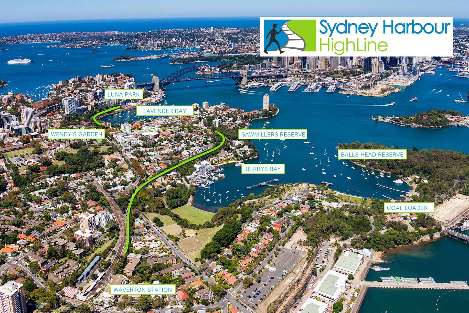Sydney Harbour High Line Map