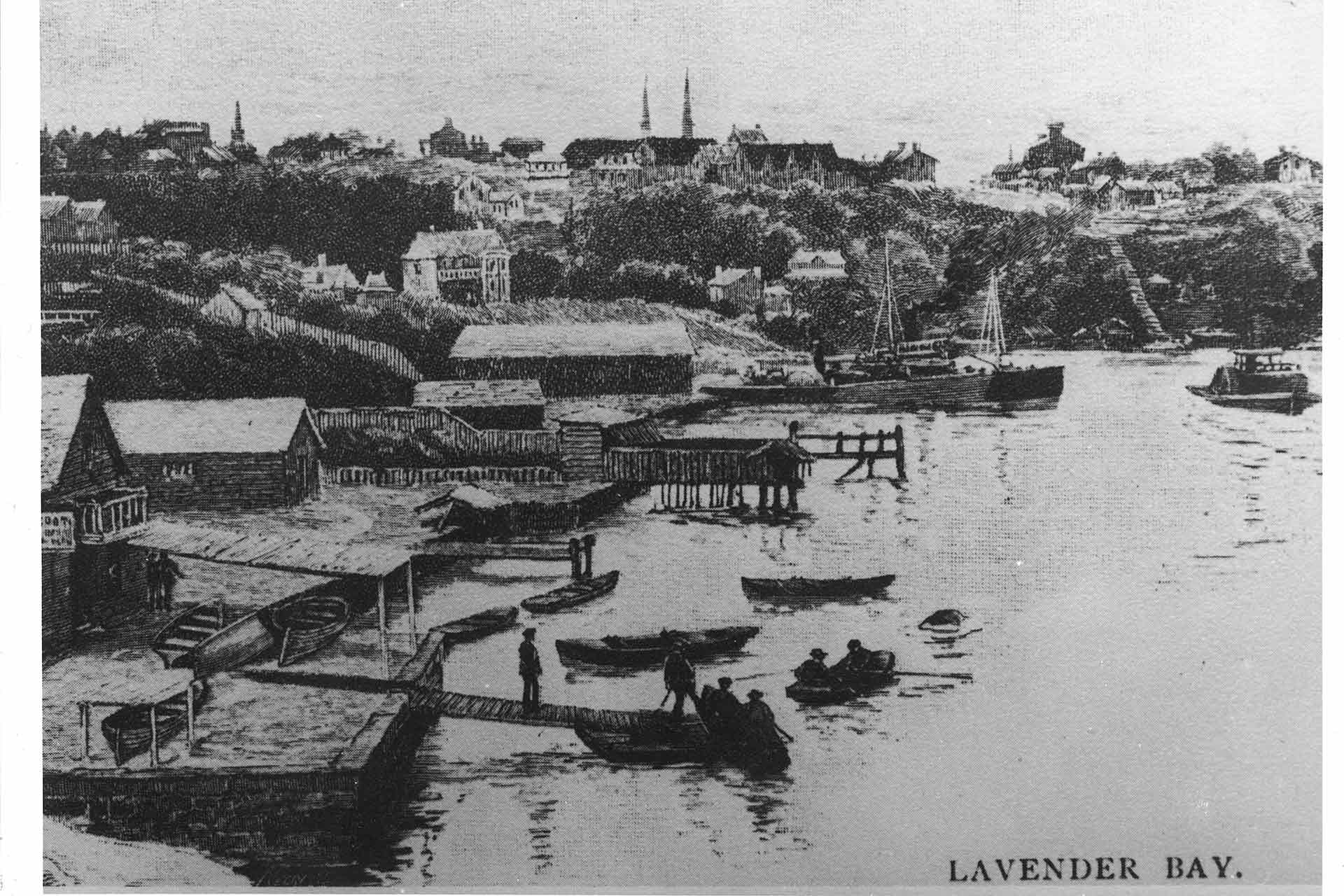 Lavender Bay Etching 1880s