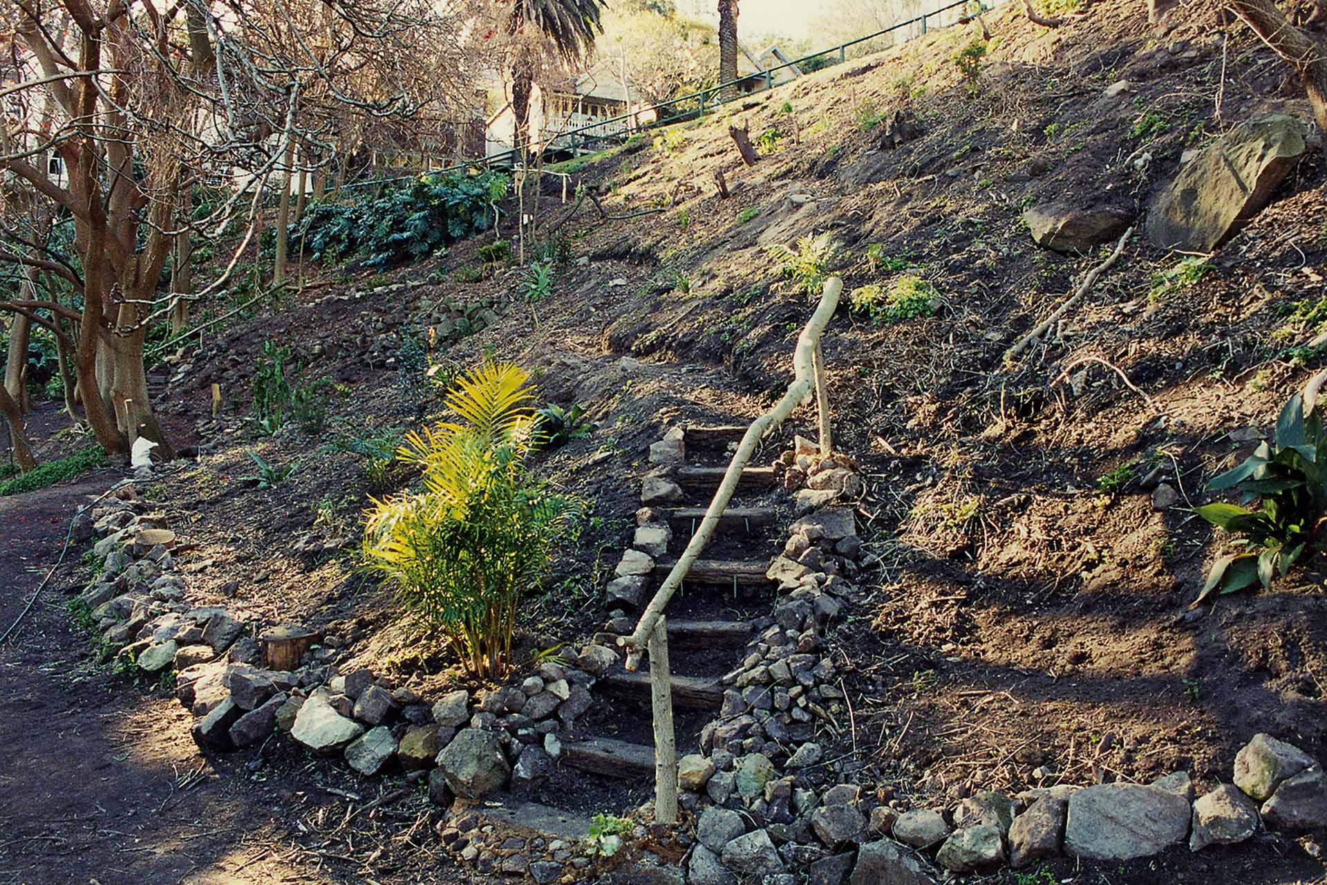 Wendys Secret Garden Clark Park Stairs